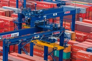 Kalmar E-One2 rubber-tyred gantry (RTG) cranes