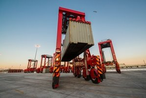 Kalmar automated straddle carriers